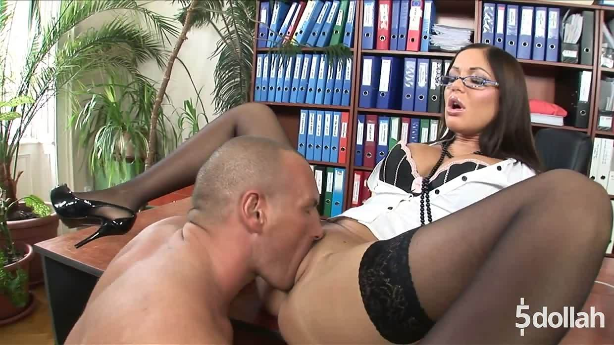 Busty Secretary Angelica Heart Seduces Her Boss On His Desk