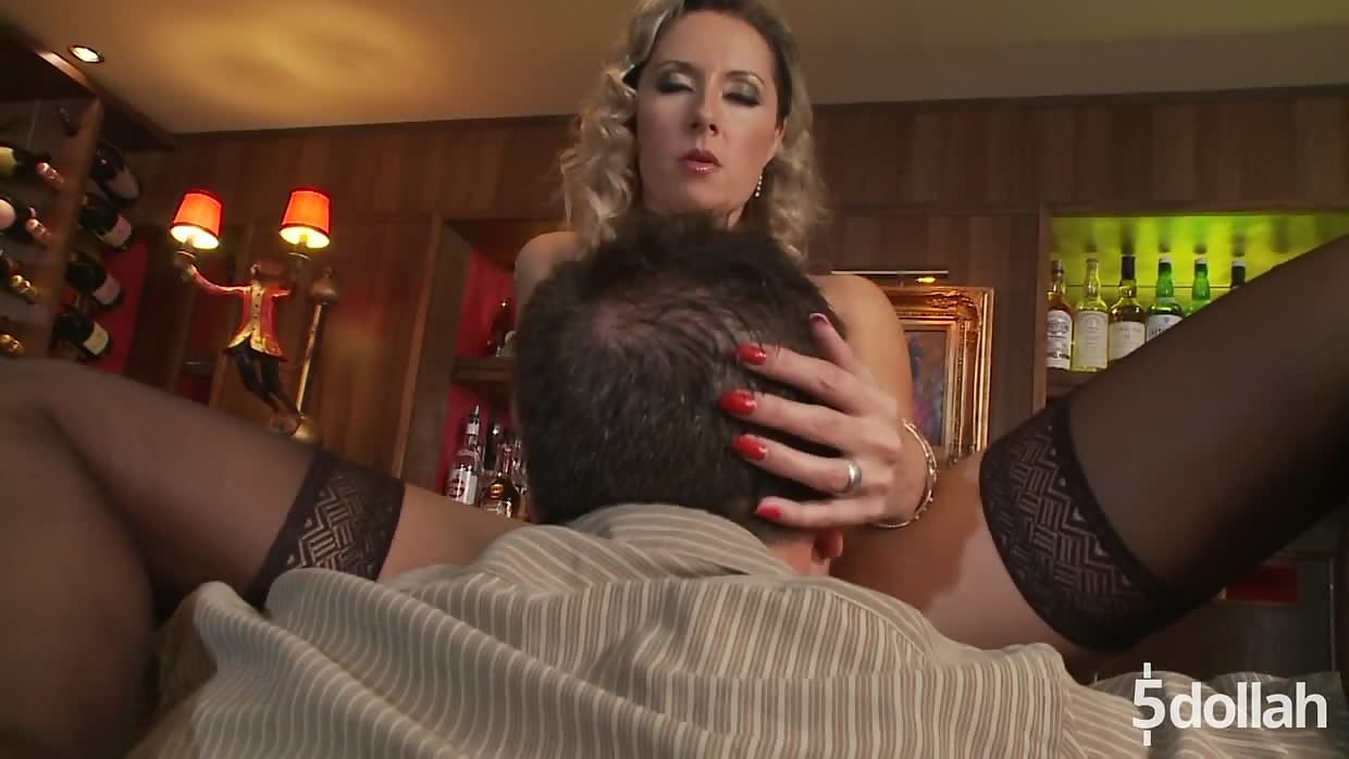 Curly Haired Milf Daria Glower In A Glamorous Bar Hardcore