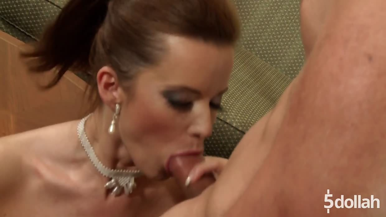 Beautiful Maid Cindy Dollar Gives VIP Customer Anal Service
